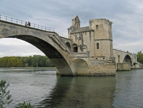 Famous bridge in avignon, provence france