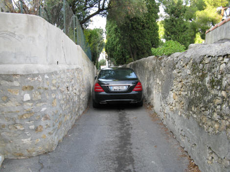 Narrow Road in Provence France